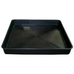 Garden Tray, 60 x 60 x 7cm, black rectangular