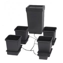 AutoPot system, 47 L Tank and 4 x 15 L Pot, 4 x Tray & Lid, black