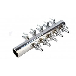 Air Manifold, Metal 10 outlets bulb 4 / 6mm