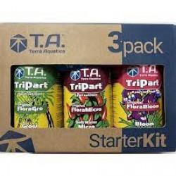T.A. TriPart, StarterKit, (ex. GHE Flora Tripack) Hard Water