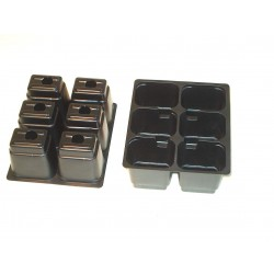6 pots tray 15 x 13 cm